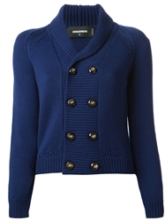 Dsquared2 Shawl Collar Cardigan Blue