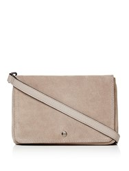 Label Lab Double Pouch Leather Crossbody Grey