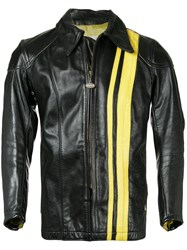 Fake Alpha Vintage 1960S Bates Motorcycle Racing Jacket Black