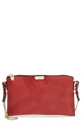 Burberry 'Peyton Grain Check' Crossbody Bag Military Red