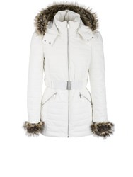 Morgan Hooded Down Coat White