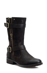 Brn Women's B Rn 'Eerie' Engineer Boot Cafe Distressed Suede