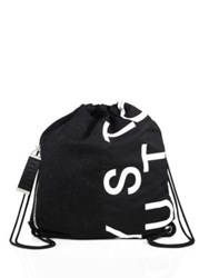 Mcq By Alexander Mcqueen Leather Graphic Printed Backpack Black Grey