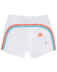Sundek White Striped Swim Shorts
