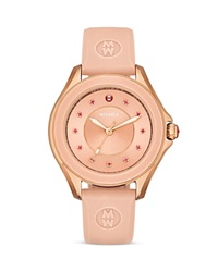 Michele Pink Cape Topaz Studded Watch 40Mm Gold