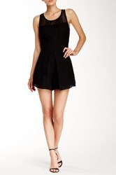 Rebecca Minkoff Marriane Faux Leather Romper Black