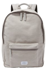 Fossil Ella Canvas Backpack Gray
