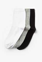 Missguided 3 Pack Monochrome Socks