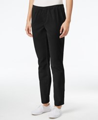 Karen Scott Petite Corduroy Pants Only At Macy's Deep Black