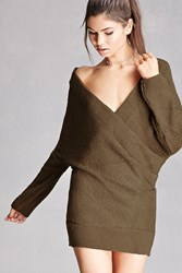 Forever 21 Surplice Front Sweater