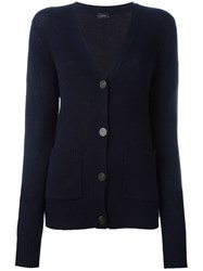 Joseph V Neck Cardigan Blue