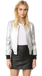 Bb Dakota Alastair Bomber Jacket Silver