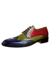 Melvin And Hamilton Jeff 14 Laceups Green Grey Red Lt. Tan Multicoloured