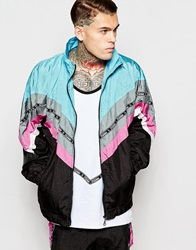 Jaded London Shellsuit Jacket With Taping Blue