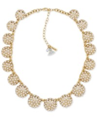 Lonna And Lilly Gold Tone Imitation Pearl Dome Collar Necklace