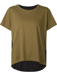 Mm6 Maison Margiela Crew Neck T Shirt Green