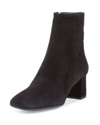 Prada Suede Square Toe 55Mm Ankle Boot Black