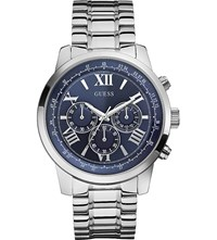 Guess W0379g3 Horizon Stainless Steel Watch Blue