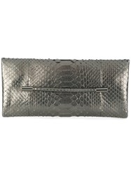 Tom Ford Snakeskin Effect Clutch Pitone Moluro Grey