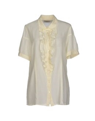 Mason's Short Sleeve Shirts Ivory