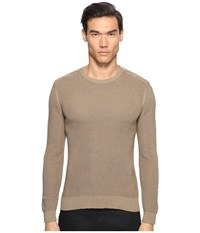 The Kooples Cotton Pearl Stitch Sweater Camel Men's Sweater Tan