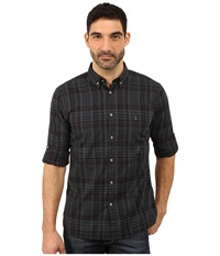 John Varvatos Button Down Shirt W Peace Embroidery W426r3b Steel Grey Men's T Shirt Gray