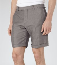 Reiss Meadow Mens Linen And Cotton Shorts In Grey