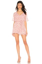 Bb Dakota Picking Roses Romper Pink