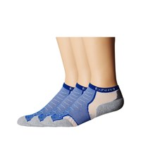 Thorlos Experia Micro Mini 3 Pair Pack Royal Blue Low Cut Socks Shoes