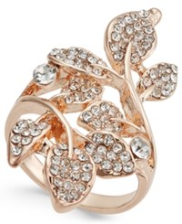 Inc International Concepts Rose Gold Tone Pave Multi Leaf Ring Only At Macy's