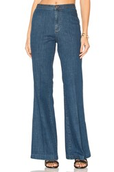Free People Ray Of Sunshine Flare Jeans Dark Blue