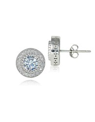 Lord And Taylor Cubic Zirconia Sterling Silver Stud Earrings