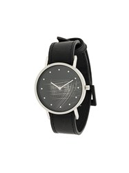 South Lane Avant Surface Watch Stainless Steel Calf Leather Black