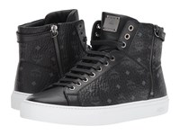 Mcm Logo Lace Up Turnlock Sneakers Black Men's Shoes