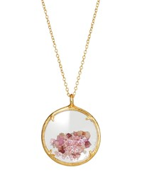 Catherine Weitzman Shaker Birthstone Pendant Necklace October
