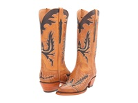 Lucchese L4624 Honey Burnished Ranch Hand Cowboy Boots Tan