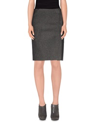 Celine Celine Knee Length Skirts Grey
