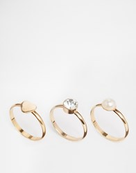 Designsix Design Six Three Ring Set Gold