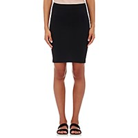 Helmut Lang Women's Tech Jersey Tube Miniskirt Black