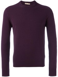 Cruciani Round Neck Jumper Pink Purple
