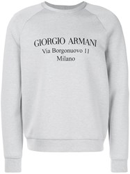Giorgio Armani Designer Address Sweatshirt Grey