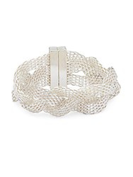 Saks Fifth Avenue Braided Cuff Bracelet Silver