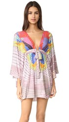 Mara Hoffman Cover Up Poncho Radial Lavender