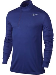 Nike Men's Dri Fit Knit Half Zip Jumper Blue