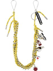 Dsquared2 Cord Charm Necklace Yellow And Orange