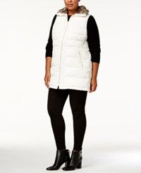 Charter Club Plus Size Faux Fur Collar Puffer Vest Created For Macy's Vintage Cream