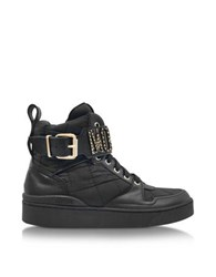 Moschino Black Quilted Nylon High Top Sneakers