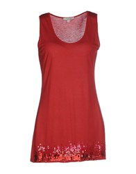 Le Ragazze Di St. Barth Topwear Vests Women Brick Red