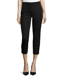 Paperwhite Slim Leg Cropped Pants Black