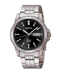 Seiko Mens Stainless Steel Dress Watch Silver